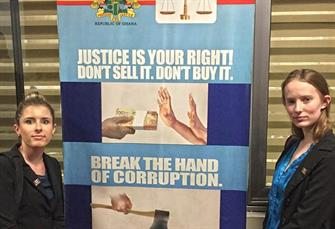Ghana anti-corruption sign