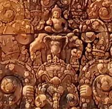Cambodia- carving detail at Banteay Srei