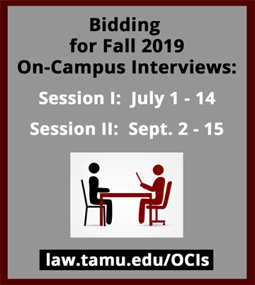 fall 2019 OCI bidding dates for session 1 is july 1-14