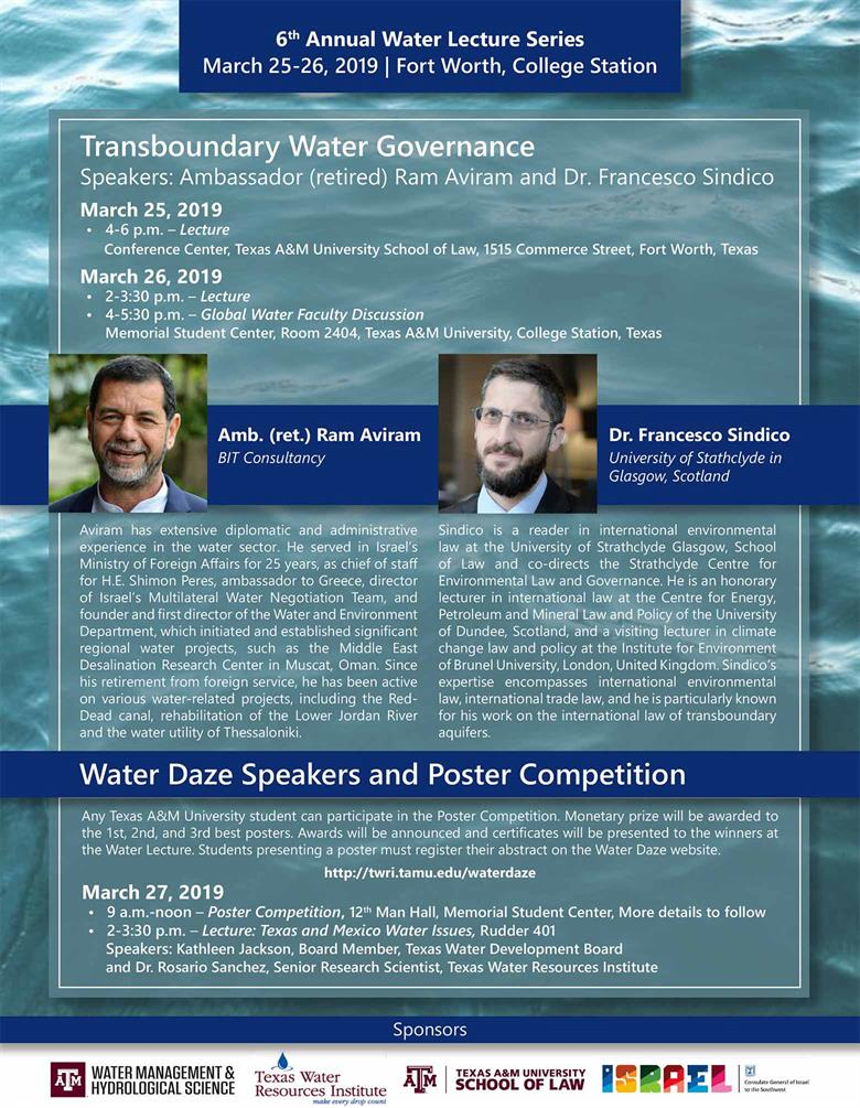 2019 Water Lecture Series