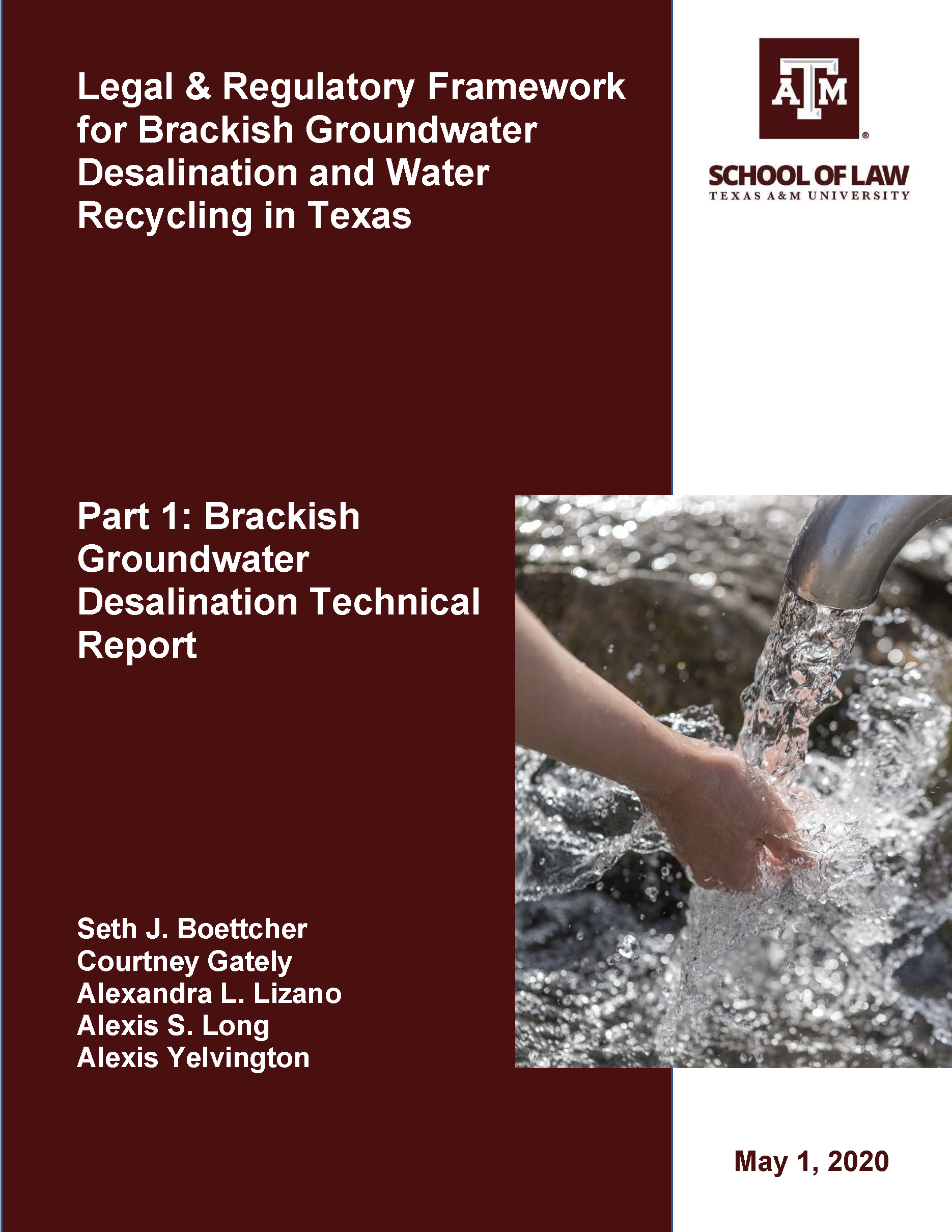 cover desalination technical report