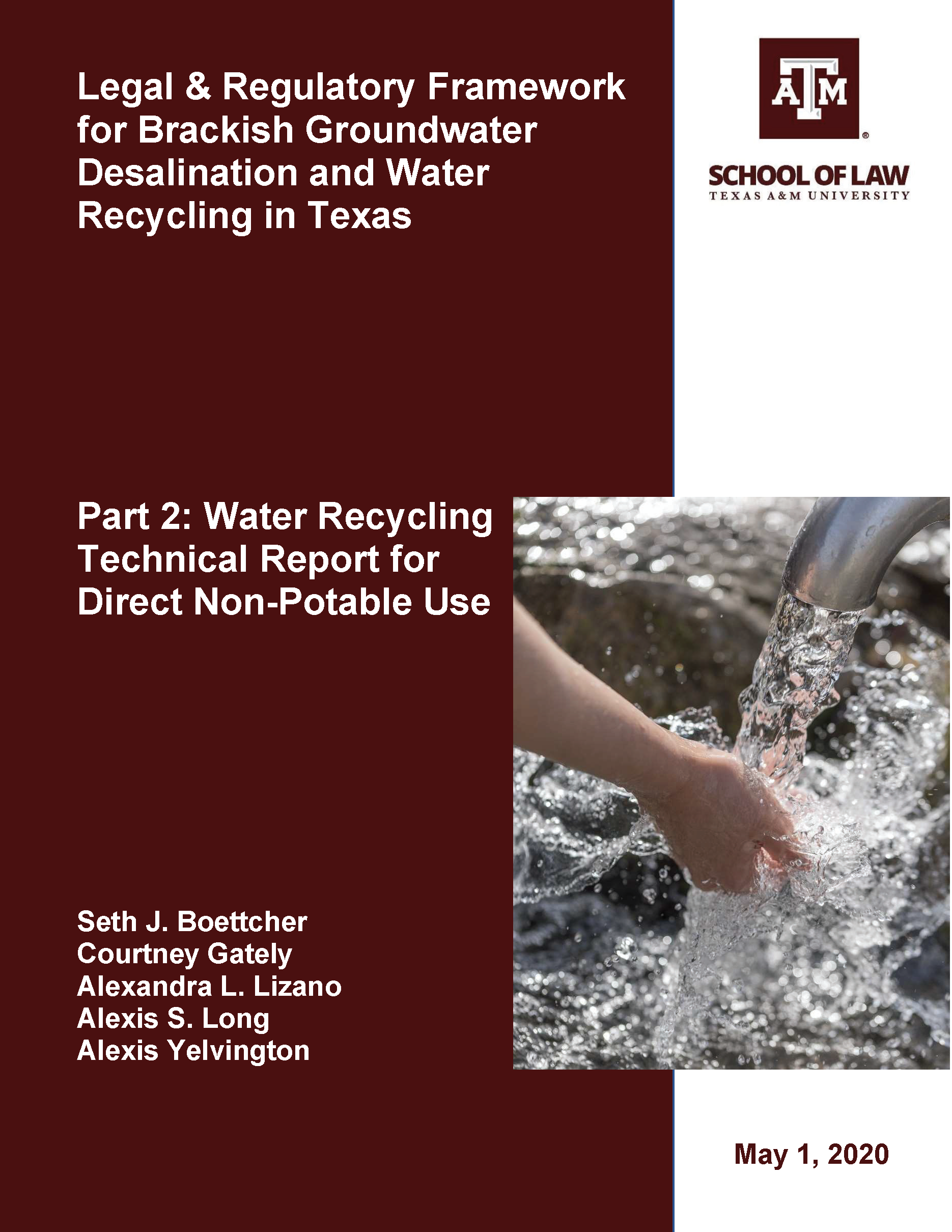 cover water recycling technical report