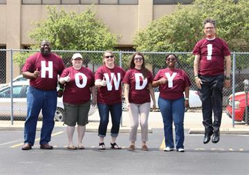 Texas A&M Law School admissions team says HOWDY!